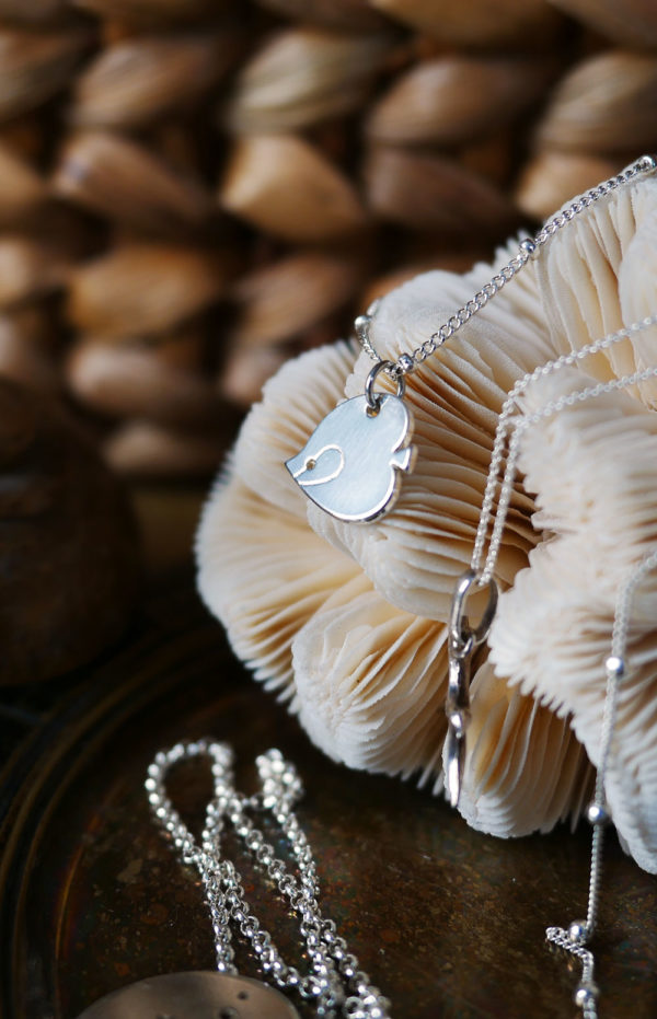 Collier poisson ange finition or - Les Naturalistes bijoux